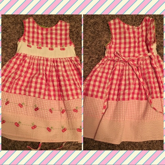 3f80a618adf9 Youngland Dresses | Girls Toddler Dress Cherries And Gingham Retro ...